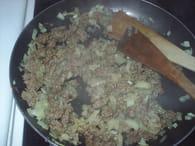 Riz à la tomate et viande hachée : Etape 3