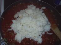 Riz à la tomate et viande hachée : Etape 6