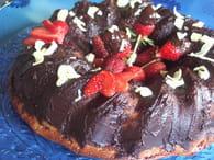 Gâteau aux fraises et aux cerises aigres : Etape 6