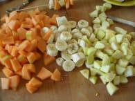 Brochettes de fruits d'été : Etape 1