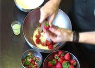 Confiture de fraises : Etape 1