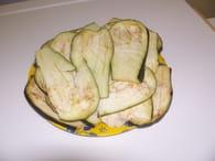 Aubergines frites (à la foudjatelle) : Etape 1