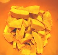 Soupe d'automne marrons potimarron : Etape 1