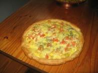 Quiche à la tomate, pomme de terre et muscade : Etape 1