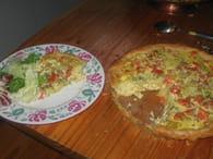 Quiche à la tomate, pomme de terre et muscade : Etape 4