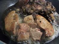 Pâtes aux cèpes et au foie gras : Etape 3
