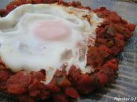 Fricassée de poivron-tomate à l'oeuf : Etape 1