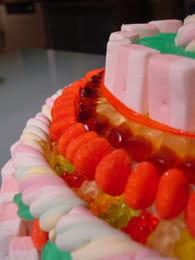Pièce montée de bonbons : Etape 3