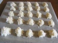 Rochers à la noix de coco : Etape 3
