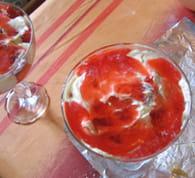 Fraisier en verrine, crumble croquant au caramel : Etape 6