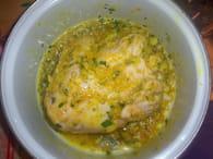 Poulet aux olives et citron confit : Etape 1