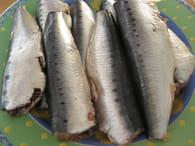 Sardines au four : Etape 1