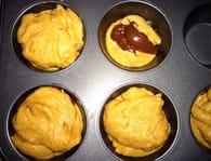 Muffins à la banane au coeur de Nutella : Etape 2