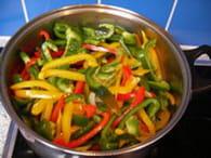 Peperonata (poivronnade) : Etape 2