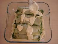 Cannellonis au saumon et aux épinards : Etape 5