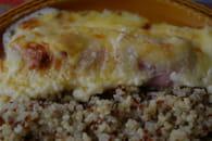 Gratin de poireaux au jambon et muscade : Etape 3
