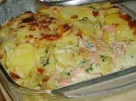 Gratin de pommes de terre et saumon : Etape 4