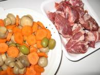 Sauté de porc en ragoût : Etape 1