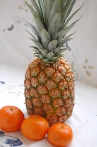 Crumble à l'ananas et clémentines : Etape 1
