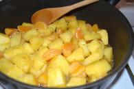Crumble à l'ananas et clémentines : Etape 2