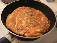 Omelette de haricots verts au raifort : Etape 2