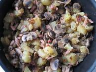 Poêlée pommes de terre aux champignons : Etape 5