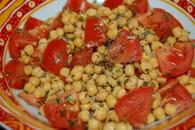 Salade de pois chiches à l'orientale : Etape 3