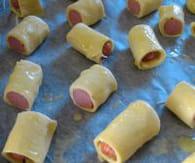 Feuilletés aux saucisses. Feuilletes-aux-saucisses-etape-2