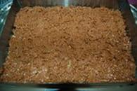 Trois chocolats sur croustillant pralinoise : Etape 2