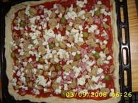 Pizza jambon, champignon et fromage : Etape 6