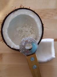 Glace à la noix de coco fraîche : Etape 1