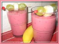 Smoothie banane-framboise : Etape 2