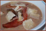 Velouté de châtaignes au jambon de Parme et parmesan : Etape 5