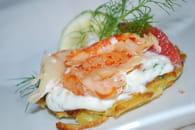 Blinis de pommes de terre au saumon fumé : Etape 6