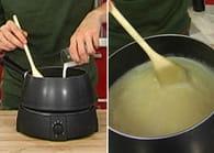 Fondue au fromage : Etape 3