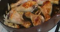 Tajine de poulet aux  fruits secs et au miel : Etape 1