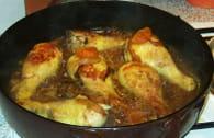 Tajine de poulet aux  fruits secs et au miel : Etape 2