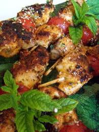 Brochettes de dinde  marinée aux épices : Etape 1