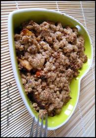 Crumble de lapin au pain d'épice : Etape 6