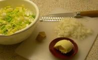 Velouté poireau-pomme de terre : Etape 1