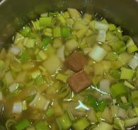 Velouté poireau-pomme de terre : Etape 2