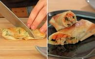 Rouleaux croustillants de légumes : Etape 5