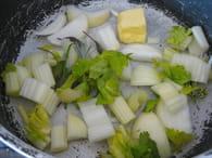 Soupe tomate boulettes : Etape 1