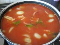 Soupe tomate boulettes : Etape 3
