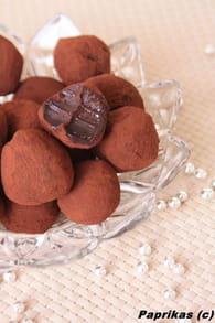 Truffes au chocolat noir : Etape 1