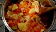 Velouté de poivrons au Boursin : Etape 1