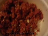 Encornets farcis à la viande et sauce aux épices : Etape 2
