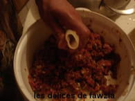 Encornets farcis à la viande et sauce aux épices : Etape 4