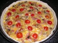 Quiche de tomates au cantal : Etape 3