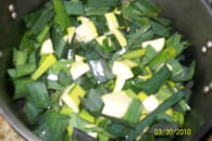 Soupe de poireaux et de courgettes : Etape 2